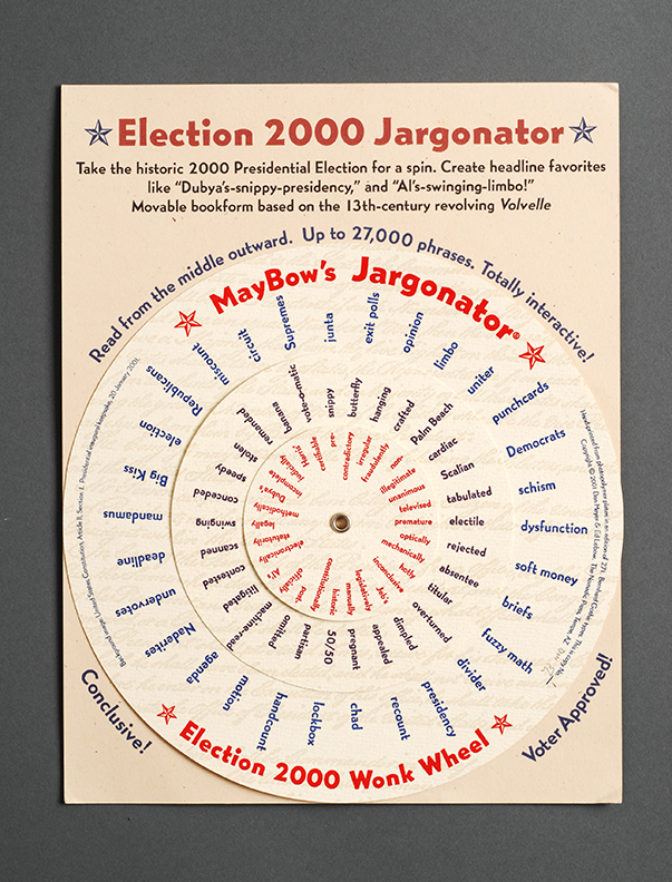 Election 2000 Jargonator, movable text volvelle